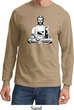 Mens Yoga Tee At Peace Buddha Long Sleeve