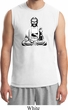 Mens Yoga Tee At Peace Buddha Muscle Shirt