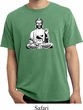 Mens Yoga Tee At Peace Buddha Pigment Dyed T-shirt