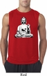 Mens Yoga Tee At Peace Buddha Sleeveless Shirt