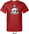 Mens Yoga Tee At Peace Buddha Tall T-shirt