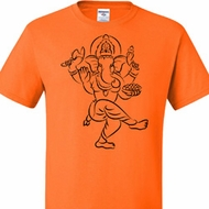 Mens Yoga Tee Black Sketch Ganesha Tall T-shirt