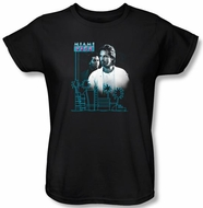 Miami Vice Ladies T-shirt Looking Out Black Tee Shirt