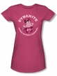 Mighty Mouse Juniors T-shirt Dynamite Girly Hot Pink Tee