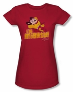 Mighty Mouse Juniors T-shirt I'm Mighty Girly Red Tee