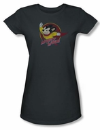 Mighty Mouse Juniors T-shirt Mighty Circle Girly Charcoal Tee