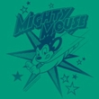 Mighty Mouse Juniors T-shirt Mighty Mouse Stars Girly Kelly Green Tee