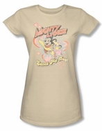 Mighty Mouse Juniors T-shirt Saved My Day Girly Sand Tee