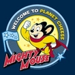 Mighty Mouse Kids T-shirt Planet Cheese Youth Navy Blue Tee