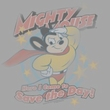 Mighty Mouse T-shirt - At Your Service Adult Silver Tee