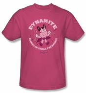 Mighty Mouse T-shirt - TV Series Dynamite Adult Hot Pink Tee