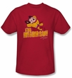 Mighty Mouse T-shirt - TV Series I'm Mighty Youth Kids Red Tee