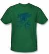 Mighty Mouse T-shirt - TV Series Mighty Mouse Adult Kelly Green Tee