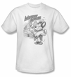Mighty Mouse T-shirt - TV Series Protect And Serve Adult White Tee