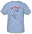 Mighty Mouse T-shirt - TV Series Save Me Adult Light Blue Tee