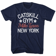 Mike Tyson Shirt Catskill Gym Navy Blue T-Shirt
