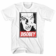 Mike Tyson Shirt Disobey White T-Shirt