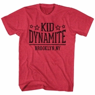 Mike Tyson Shirt Dynamite Heather Red T-Shirt