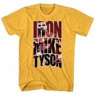Mike Tyson Shirt Iron Mike Gold T-Shirt
