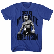 Mike Tyson Shirt Kid Dynamite Royal Blue T-Shirt