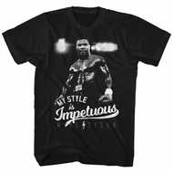 Mike Tyson Shirt My Style Is Impetuous Black T-Shirt