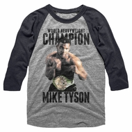 Mike Tyson Shirt Raglan Undefeated Grey/Black Shirt