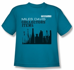 Miles Davis Kids Shirt Collectors Items Turquoise Youth Tee T-Shirt