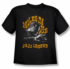 Miles Davis Kids Shirt Jazz Legends Black Youth Tee T-Shirt
