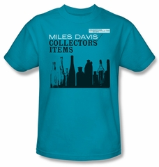 Miles Davis Shirt Collectors Items Adult Turquoise Tee T-Shirt