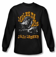 Miles Davis Shirt Jazz Legends Long Sleeve Black Tee T-Shirt