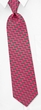 Mini Alligators Silk Tie Necktie - Men's Animal Print Pink Neck Tie