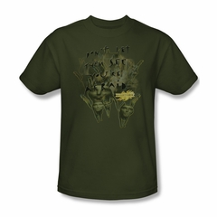 Mirrormask Shirt Don't Let Them Adult Green Tee T-Shirt