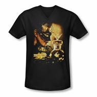 Mirrormask Shirt Slim Fit V Neck Trapped Black Tee T-Shirt
