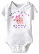 Mommy's Little Piggy Funny Baby Romper White Infant Babies Creeper