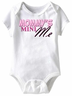 Mommy's Mini Me Funny Baby Romper White Infant Babies Creeper