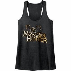 Monster Hunter Juniors Tank Top Logo Black Racerback