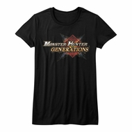 Monster Hunter Shirt Juniors Generations Logo Black T-Shirt
