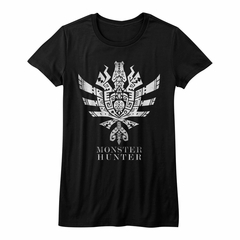 Monster Hunter Shirt Juniors Ultimate Logo Symbol Black T-Shirt