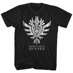 Monster Hunter Shirt Ultimate Logo Symbol Black T-Shirt