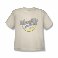 Moon Pie Shirt Kids Distressed Retro Logo Cream T-Shirt
