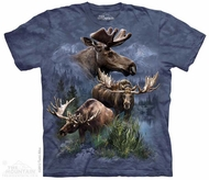 Moose Collage Shirt Tie Dye Adult T-Shirt Tee
