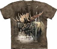 Moose Shirt Tie Dye Hunting Forest T-shirt Adult Tee