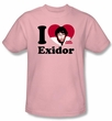 Mork and Mindy Shirt I Heart Exidor Pink T-Shirt