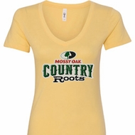 Mossy Oak Country Roots Ladies V-Neck Shirt