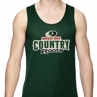 Mossy Oak Country Roots Mens Moisture Wicking Tanktop