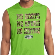 Mossy Oak No Boots No Spurs No Service Sleeveless Dry Wicking Shirt