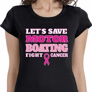 Motor Boating Ladies Breast Cancer Awareness Shirts