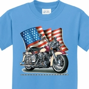 Motorcycle Flag Kids Biker Shirts