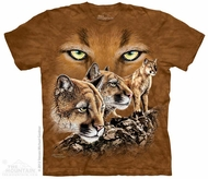 Mountain Lion Shirt Tie Dye Adult T-Shirt Tee
