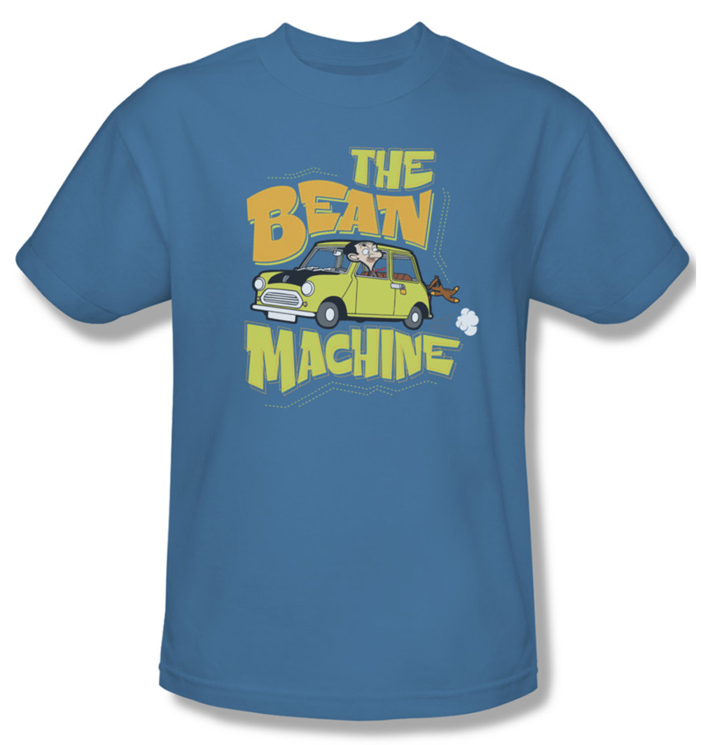 mr bean shirt machine adult carolina blue tee t shirt mr bean machine shirts. Black Bedroom Furniture Sets. Home Design Ideas
